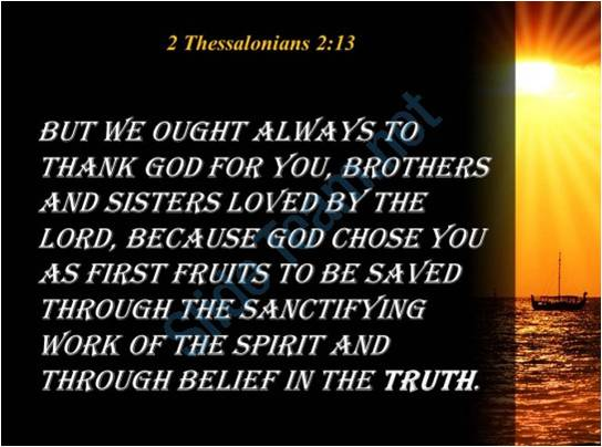 The work of the holy spirit 2 thessalonians 213 millersburg we must understand that the holy spirit is a person and that he desires to work with us and within us to conform us into the image of christ thecheapjerseys Gallery